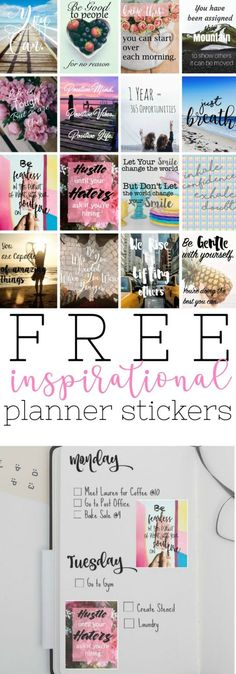 Free Printable Inspirational Stickers for Your Planner Free Printable Inspirational Stickers for Your Planner or Bullet Journal Planner Free, To Do Planner, Happy Planner, Planner Ideas, College Planner, Planner Journal, Student Planner, Free Printable Quotes, Printable Planner Stickers
