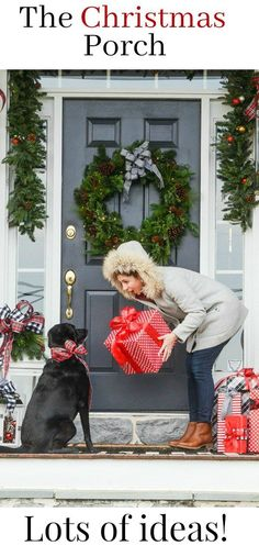 THE CHRISTMAS PORCH- Come on over and get lots of Christmas inspiration and ideas for decorating your front porch and front door.