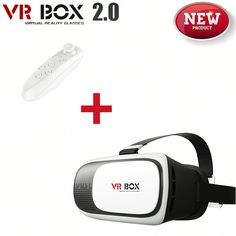 2016 New Google Cardboard VR BOX 2.0 Version VR Virtual Reality 3D Glasses For 4.0-6.0 inch Smartphone For iPhone Samsung Xiaomi