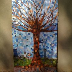 Recycled Magazine Mosaic