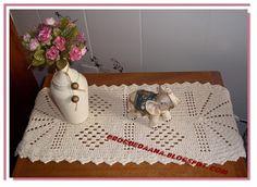 Crochês de Analu: Toalhinha oval