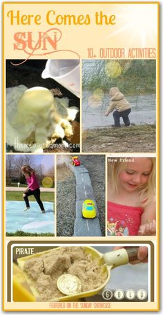 10+ Outdoor activities for kids to celebrate the warmer weather - I cant wait for Summer!