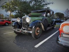 """Location: Car Cruise-In """"The Plaza At Davie"""" FL.. 1928 Lincoln . Photographer: Tim Sims 04-10-2015"""