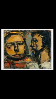 Georges Rouault - Christ and the Doctor, c. 1935 - Oil on canvas - 8,7 x 10,8 cm - Washington, NGA