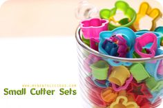 Cora or Me: Small cookie cutters. The clay section in the craft store has cute teddy bears, ice cream cones, etc for around $2. photo via Bentolicious: bento tools