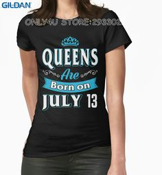 Gildan Business Shirts Queens Are Born On July 13 Crew Neck Christmas Shirt #Affiliate