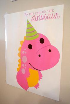 "Photo 3 of 32: Dinosaurs / Birthday ""Alaina's 2nd Pink Dinosaur Birthday Party"" | Catch My Party"