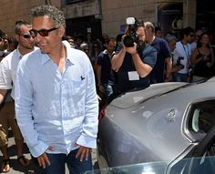 Talented actor John Turturro chauffeured to the Taormina Film Festival in a Maserati Quattroporte.