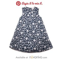 Repin it to Win it! Flower Festival Navy Floral Poplin Dress by Blue Seven. Retail $32.50.