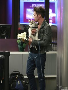 Jonathan Rhys Meyers #jonathanrhysmeyers #jrm leaving LAX airport Dec 03 2015 new puppy Toccla