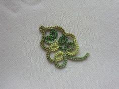 Tatting La Feuille Frivole (Small Leaf pattern) (need free membership to view pattern)
