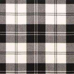Erskine Black & White Lightweight Tartan by the meter – Tartan Shop