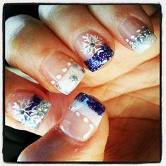 holiday glitter set, nailart, nails, nailpolish, japanese 3d nails, purple glitter,  snowflake .nailart, christmas nails