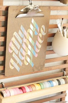 How to make stickers with washi tape