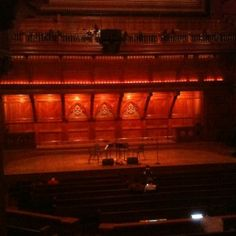 Sanders Theatre in Memorial Hall, Harvard University
