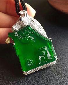 @margueritecaicai. Jadeite Pendant #jade #jadeite #diamonds #jewellery