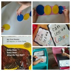 Activities for learning about Colors and the sense of sight, Preschool Education, Preschool At Home, Teaching Math, Preschool Crafts, Teaching Ideas, Inquiry Based Learning, Early Learning, Sense Of Sight, What Do You See