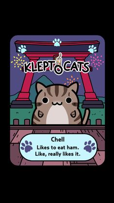 "Here's my new friend ""Chell"" #KleptoCats @HyperBeard #iOS www.kleptocats.com/share #caturday"