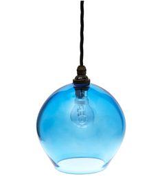 Blue Round Glass Pendant Light | Home | Liberty.co.uk