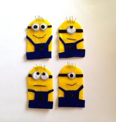 Hey, I found this really awesome Etsy listing at http://www.etsy.com/listing/153969101/despicable-me-set-of-four-minion-finger