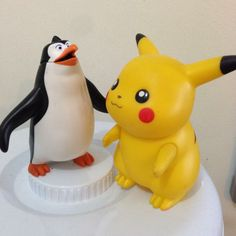 Pikachu meets the penguin 🐧