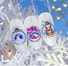 Nail Art Noel, Nail Art For Kids, Christmas Manicure, Xmas Nails, Winter Nail Art, Christmas Nail Designs, Christmas Nail Art, Winter Nails, Super Cute Nails