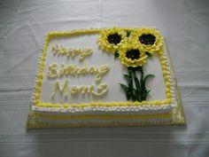 scored quarter sheet cakes | Just a little quarter sheet - lemon cake w/lemon filling - buttercream ...