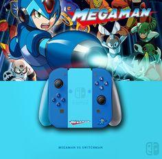 Joy Con Megaman (Rockman). If U like it, follow me on Twitter ! joycon, nintendo switch, dock, joy-con