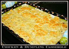 Makin' it Mo' Betta: Chicken and Dumpling Casserole