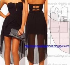 Swans Style is the top online fashion store for women. Shop sexy club dresses, jeans, shoes, bodysuits, skirts and more. Diy Clothing, Clothing Patterns, Dress Patterns, Diy Fashion, Ideias Fashion, Fashion Design, Diy Dress, Dress Skirt, Diy Vetement