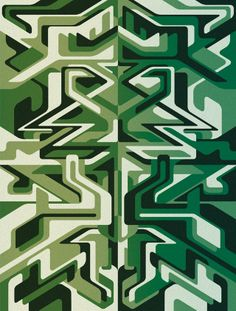 ✤✤ Matt W Moore - Rorschach Series # 3 : Sea Glass. | MWM Graphics ✤✤