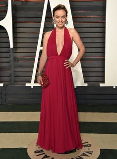 Olivia Wilde in Valentino attends the Vanity Fair Oscars After Party