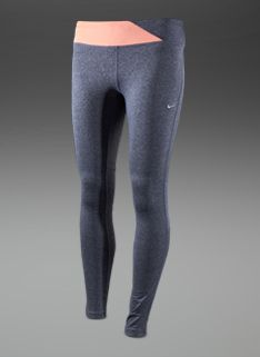 Nike Womens Epic Run Tights - Womens Running Clothing - Armory Navy-Atomic Pink-Heather-Matte Silver £43.99
