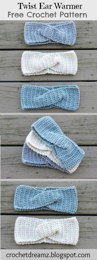 How to Crochet a Quick Twist Headband or Earwarmer, A Free Crochet Pattern