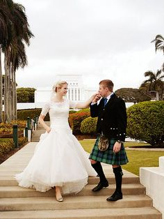 Elizabeth Smart  and her new husband. Congratulations, so happy for them
