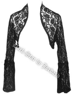 Dark Star Black Lace Gothic Shrug Bolero Top [DS/JK/7191] - $43.99 : Mystic Crypt, the most unique, hard to find items at ghoulishly great prices!