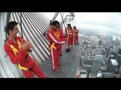 Doing the Edge Walk - CN Tower, Toronto. Just watching this video makes my legs feel like jello