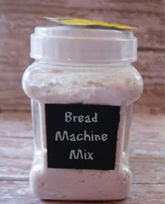 DIY Bread Machine Bread Mix Recipe - I am going to try this for those times I find I ate all the store-bought stuff Cooking Bread, Bread Baking, Bread Machine Mixes, Bread Machines, Homemade Dry Mixes, Homemade Breads, Ma Baker, Bread Maker Recipes, Bread Starter