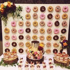 My 26th spent with everyone & everything I love.  Donut wall by @littleluuluuscakes  Donuts by @krispykreme  Beautiful donut cake by @sweetson77  Dessert cups by @lilsweets_2