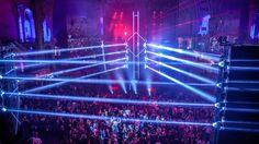 Pour sa seconde édition, le Cinéma Paradiso, évènement incontournable du cinéma et du divertissement organisé à Paris par MK2 Agency s'installe dans le cadre grandiose de la nef du Grand Palais. Superbien imagine la Scénographie du Superclub, le plus grand club éphémère d'Europe, sous forme d'un dancefloor encadré par un énergique et structurant ring triangulaire de 12 mètres de haut, tout en light et écrans de LEDs.