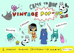 Come to my Vintage Pop-Up Sale this Saturday (Toronto) 9am-4pm!!!! See poster for details.