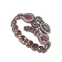 Bracelets & Bangles Fashion Design Turkish Big Size Acrylic Bangle Luxury Women Party Vintage Bracelet Indian Jewelry Pulseira