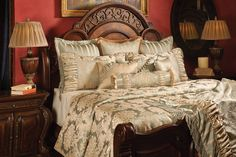 "Brittany Luxury Duvet Bedding Set | K & R Interiors | What sets K&R bedding apart, besides the high-quality fabrics and construction, is the extra wide sizing of our duvet covers and coverlets; most are between 115""-120"" wide."