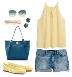"""""""is it summer yet?"""" by gallant81 ❤ liked on Polyvore featuring J.Crew, MANGO, Oliver Peoples, Forever 21, women's clothing, women, female, woman, misses and juniors"""