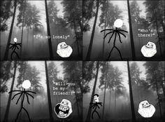 Forever Alone Meme – Meeting Slender Man