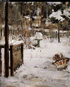 The scene of winter Nikolay Fechin China Wholesale Oil Painting Wholesale Picture Frame Oil Painting Pictures, Painting Snow, Impressionist Paintings, Landscape Paintings, Landscapes, Wholesale Picture Frames, 26 November, Pastel Art, Winter Landscape