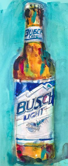Busch Light Beer Original Beer Art  (Print Size - 8.5 x. 11) and (Print Size - 10 x 20) ●●●●●●●●●●●●●●●●●●●●●●●●●●●●●●●● OPTION1 Page Size: 11 x 8.5