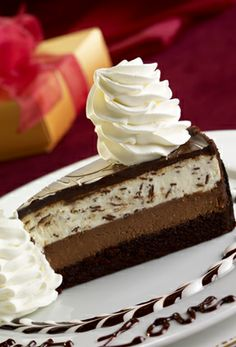 Cheesecake Factory's Chocolate Tuxedo Cream Cheesecake.  One of my favorite desserts of all time.  I desperately need to find a copycat recipe for this!