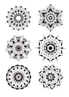 Geometric Flowers by Blake Gordon, via Behance