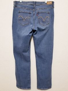 """Levi's - Women's Jeans - Size 38"""" x 31"""" Blue Stretch Denim Pants - 512 Straight Leg  #Levis #512StraightLegPerfectlyShaping ..... Visit all of our online locations.....  www.stores.eBay.com/variety-on-a-budget .....  www.stores.ebay.com/ourfamilygeneralstore .....  www.etsy.com/shop/VarietyonaBudget .....  www.bonanza.com/booths/VarietyonaBudget .....  www.facebook.com/VarietyonaBudgetOnlineShopping"""
